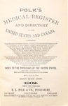 1902 Polk's Medical Register and Directory of the United States and Canada (Texas portion only) by R.L. Polk and Co.