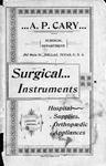 Cary's Illustrated and Priced Catalogue: Surgical Instruments, Physicians, Hospital Supplies, and Furnishings, Druggist Sundries, Etc. by A. P. Cary